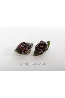 Camo Rose Tiny Hair Pins, Set of 2