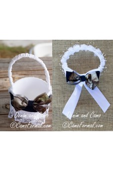 Denim & Camo Basket and Hair Wreath