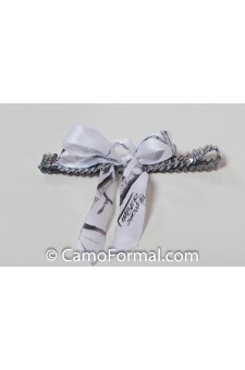 Sequin Garter Camo Ribbon