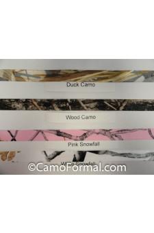 """* Camo Ribbon, 5/8"""" width (Camo/White) per Yard"""