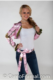 "Jacket ""Camo"" Sash and Bolero Long Slv - Set of 2"