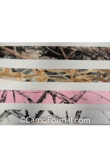 """* Camo Ribbon, 1 1/2"""" width (Camo/White) per Yard"""