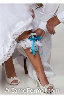 Cell Phone Holder - Garter with Lace