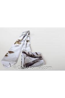 * Men's Long Camo Tie and Pocket Square Set