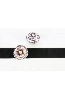 Sash (2x90) with Flat Wrap Rose on Pin