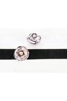 Sash (2x90) with Flat Wrap Rose on Pin
