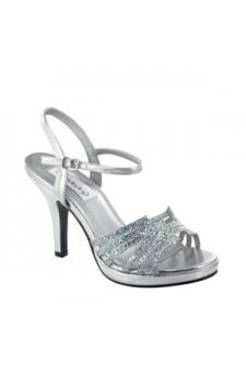 Leah Silver Iridescent Glitter