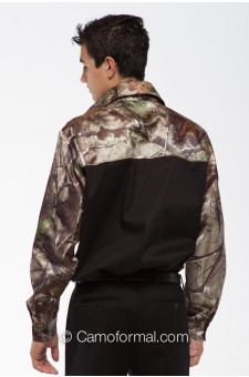 *  Men's Two Color Camo CAMP Shirt