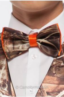 *Men's 2 Color Camo Bow Ties