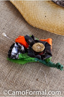 *Shotgun Shell and Camo Boutonniere for Men's Jacket