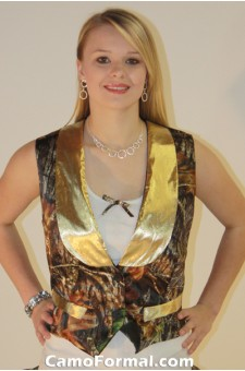 *Women's Vest with Contrast lapel