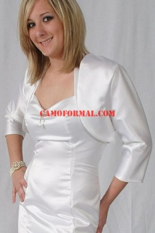 "Jacket ""Matte Satin"" Bolero with Long Sleeves"