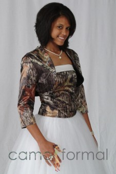"Jacket ""Camo"" Bolero with 3/4 Sleeve"