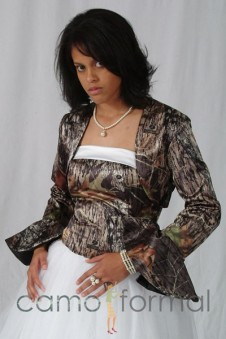 "Jacket ""Camo"" Bolero with Poet Sleeves"
