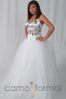 3041 Halter Tulle Ball Gown