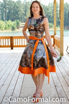 "3062 ""Audrey"" Sleeveless Camo Dress"
