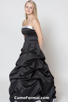 3135 Strapless, Pickup Skirt, Accent Bodice and Skirt Band