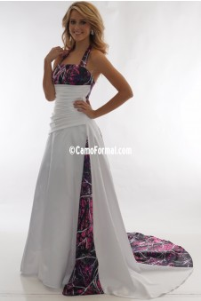 "* 3137HS ""Carrie"" Bridal Gown with Halter Straps"
