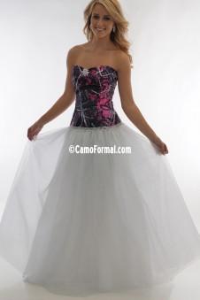 3655 RTLGN  Muddy Girl Ball Gown - Rhinestone Trim & Glitter-Net