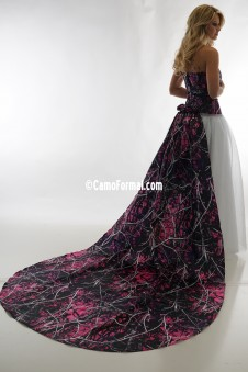 3655 RTLGN Ball Gown-Roses Detachable Train
