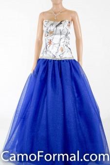 3655RTGN Camo Ball Gown