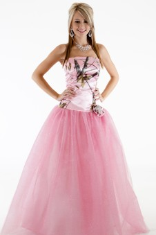 3658GNFR Ballgown with glitter net, flat rose snowflake pin