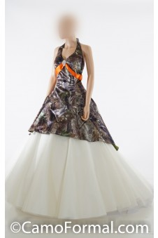 3659M Ball Gown with Sweep Train