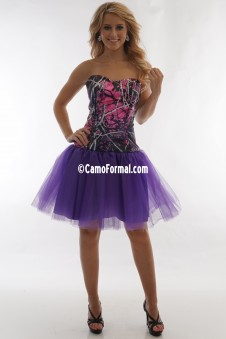3660 Camo Net Short Dress