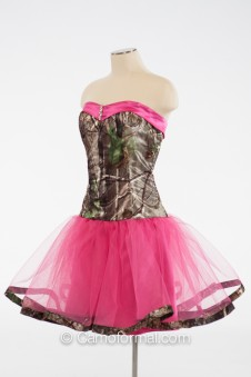 "* 3660 ""Payton"" Short Sweetheart with Camo Trim"
