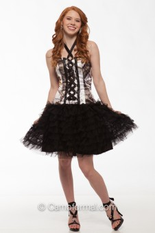 "* 3660C ""Regina"" Camo and Corset with Net Skirt"