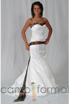 * 3887 Mermaid Wedding Gown with Attached Sash