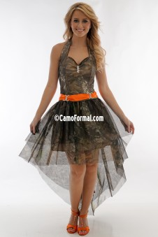 *PR 3987 Halter Hi-Low  Mossy Oak New Breakup Mesh