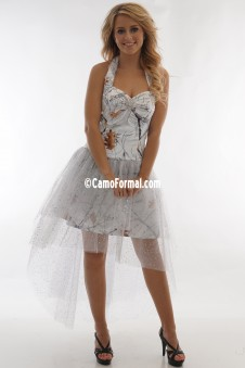 *PR 3987 Halter Hi-Low Glitter Net Skirt