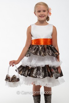 """SALE 5601 """"Lacey"""" Ruffle and Lace Flower-girl dress"""