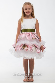 "5601 ""Lacey"" Ruffle and Lace Flower-girl dress"