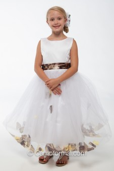 "5602 ""Madison"" Petal Flower-girl dress"