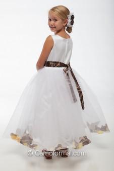 "SALE 5602 ""Madison"" White Petal dress"