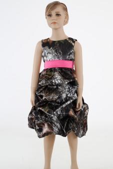 * 5603  Tucked Pickup Flower-girl dress