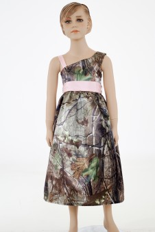 "SALE 5604 ""Mackenzie"" Camo Cold Shoulder Flower-girl dress"