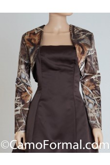 "Jacket ""Camo"" Bolero with Long Sleeves"