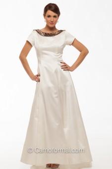 """8011 """"Maria"""" Camo A-line Wedding Dress with Sleeve"""