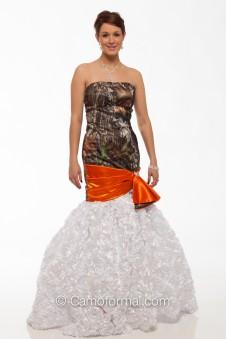 "8070-R ""Barbara"" Textured Roses and Camo Mermaid"