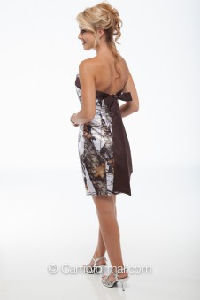 *HC 8074BS Slim Short Dress with Band-Bow Sash