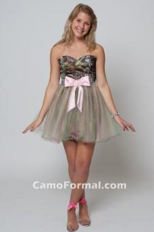*HC 8076 Short Sweetheart with Tulle Skirt