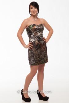 8076Seq Camo Short Sequin Dress