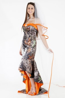 Camo Cathedral Floor Length Veil