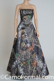 8898 Basic Camo Aline Dress