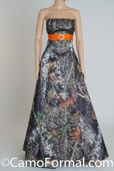 8898 Camo Aline with Sash and Buckle