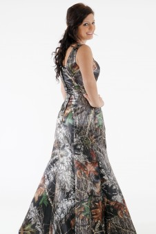 8997 Empire Mermaid Square Neck Dress Only