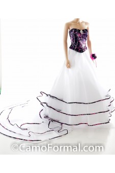 * 9049-Muddy Girl Triple Net Bridal Skirt & Top